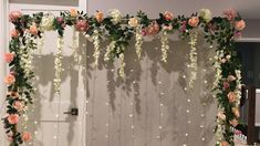 DIY - floral backdrop - diy and joy Desi Wedding Decor, Diy Wedding Backdrop, Winter Wedding Decorations, Floral Backdrop, Bridal Shower Decorations, Diy Engagement Decorations, Diy Backdrop Stand, Wedding Ideas, Wedding Ceiling Decorations