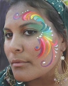 rainbow face painting ideas | Face Painting by Jaia #facepaintingideas