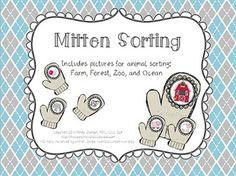 The Mitten Sorting {FREEBIE} – Winter Themed Animal Sortin