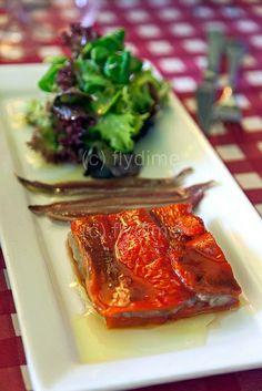 Tapas (anchovies, peppers, mushrooms) / Spain / gastro tapas / gourmet / food