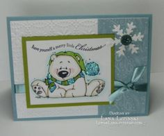 Merry Little Christmas Polar Bear! by LunarLana - Cards and Paper Crafts at Splitcoaststampers