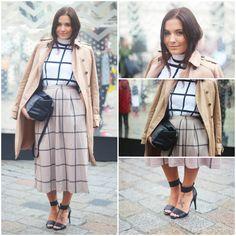 classy checkered lady