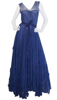 Dress Norman Hartnell, 1940s 1stdibs.com