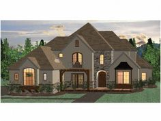 Eplans French Country House Plan - Four Bedroom French Country - 2654 Square Feet and 4 Bedrooms(s) from Eplans - House Plan Code HWEPL68473