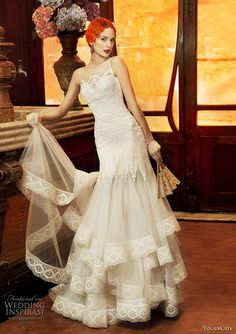 30 vintage wedding dresses bride style pinterest 1920s wedding yolancris 2011 revival vintage wedding dress collection junglespirit Image collections