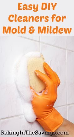 Easy DIY cleaners for mold and mildew Homemade Cleaning Products, Cleaning Recipes, Natural Cleaning Products, Cleaning Hacks, Natural Products, Cleaning Supplies, Cleaning Schedules, Diy Bathroom Cleaner, Bathroom Cleaning