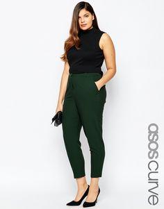 http://Www.facebook.com/lisamkstyle Image 1 ofASOS CURVE Cigarette Trouser In Crepe #Curves #Women #Fashion