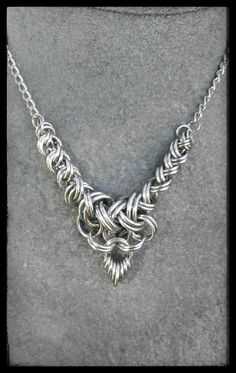 Stainless steel 2 in 2 weave necklace....just because!