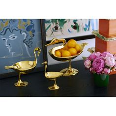 Bowls - Large Brass Bird Bowl