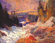 Exhibition: 'Painting Canada: Tom Thomson and the Group of Seven' at the Dulwich Picture Gallery, London – Art Blart Tom Thomson, Emily Carr, Canada Landscape, Landscape Art, Landscape Paintings, Oil Paintings, Landscape Drawings, Group Of Seven Artists, Group Of Seven Paintings