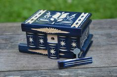 Wooden Birthday gift small jewelry box decorative box wood