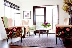Gorgeous chairs! Sitting Room, Nyla Free Designs