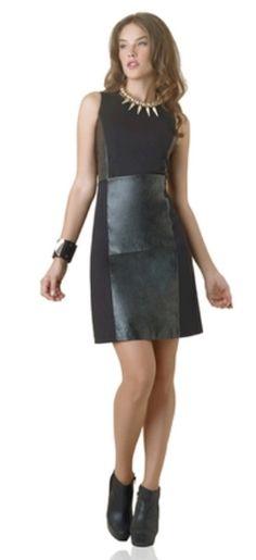Speigel Pleather patches Black Dress