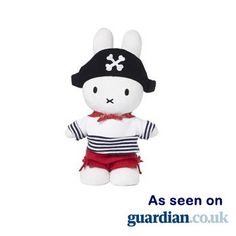 Miffy Plush Pirate - Black Hat as seen on guardian.co.uk