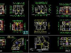 Plan Autocad pour différents types d'appartements dwg - par mohammed89
