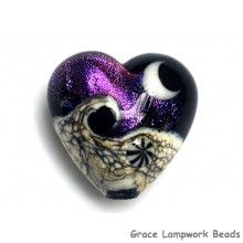 Grace Lampwork Beads // 11832905 - Amethyst Jewel Celestial Heart