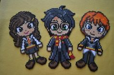 Harry Potter, Hermione Granger and Ron Weasley  Perler bead Creations