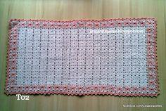 Jussara tapetes: Tapete bordado salmão - T02