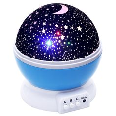 Lizber Baby Night Light Moon Star Projector 360 Degree Rotation 4 LED Bulbs 9 Light Color Changing With USB Cable Unique Gifts for Men Women Kids Best Baby Gifts Ever ** Find out more about the great product at the image link. (This is an affiliate link) Starry Night Light, Baby Night Light, Led Night Light, Night Lights, Sky Night, Night Light Projector, Projector Lamp, Projector Price, Star Master