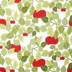 Apple oilcloth from Almedahls by Victoria Möllgård Scandinavian Fabric, Scandinavian Pattern, Kitchen Table Redo, Swedish Brands, Oilcloth, Beautiful Patterns, Textile Design, Different Colors, Fabrics