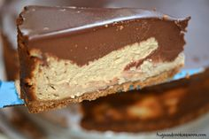Chocolate Peanut Butter Cheesecake ~ With a graham cracker crust and a chocolate ganache!