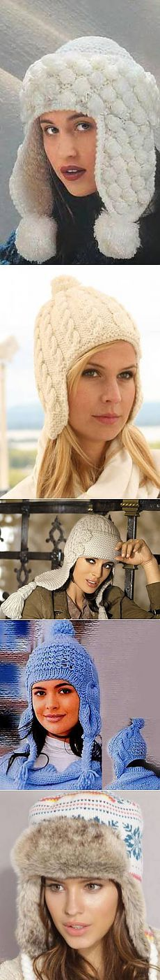 Вязание шапок ушанок <!--if(Вязание для женщин)-->- Вязание для женщин<!--endif--> - Схемы вязания крючком и спицами - Вязание
