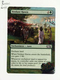 Verdant Haven - Full Art - MTG Alter - Revelen's Light Altered Art Magic Card