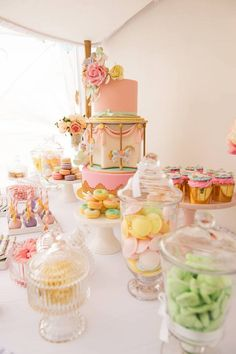 Pastel Carousel Birthday Party via Kara's Party Ideas | KarasPartyIdeas.com
