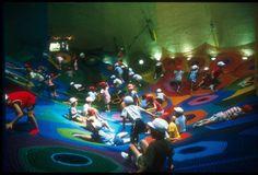 Crocheted playground