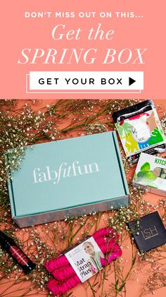Spring into FabFitFun! $39.99 for $280 of glam goodies in the box -- Marrakesh hair oil, the ISH contour kit, bath bombs, Merrithew yoga strap, keratin gloves, an herb kit, and more! What are you waiting for? Get yours today with code SUN10.