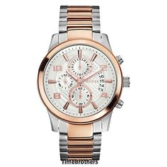 GUESS Masculine Retro Dress Chronograph Watch -- You can find out more details at the link of the image.