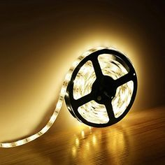 LE Lampux 12V Flexible LED Strip Lights, Warm White, 150 Units 5050 LEDs, Non-waterproof, Light Strips, Pack of 16.4ft/5m Lighting EVER http://smile.amazon.com/dp/B00JQV6O4A/ref=cm_sw_r_pi_dp_LdJHvb06F5F7V
