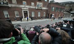 Photographers gathered outside the Lindo Wing to desperately capture that shot of the new baby after hours of waiting to see her