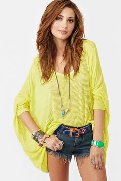 LOVE the silhouette and style but yellow is not my color. http://www.nastygal.com/collections%5Feasy%2Dbreezy/dolman%2Dstripe%2Dknit