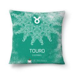 Touro   O Estável  #almofada #pillows #astrology #astrologia #zodiac #zodíaco #art #signos #decor #decoração #mandala #taurus #touro