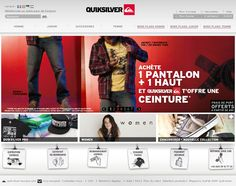2010 : Réalisations Web & E-commerce Quiksilver by Laurent VILLENEUVE, via Behance