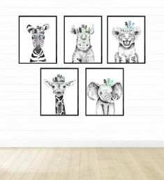 Safari Animal Prints for Nursery Decor Elephant Nursery Wall Decor, Safari Theme Nursery, Space Themed Nursery, Nursery Decor, Jungle Nursery, Bedroom Decor, Boy Wall Art, Kids Room Wall Art, Boys Room Decor