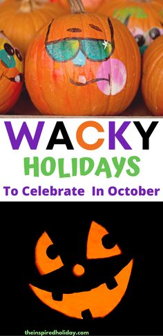 Fun and Unique Holidays to Celebrate in October. Celebrate this October with all of these silly and unique holidays. There are so many great ways to celebrate in October that have nothing to do with Halloween. Halloween Boo, Happy Halloween, Mad Hatter Day, October Celebrations, Black Cat Day, Silly Holidays, Cupcake Day, Celebration Day, Sweetest Day