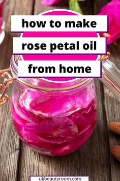 I have been making my own beauty products at home for some time &I love this! If you are interested in making a DIY rose petal oil this is great for beginners!! rose oil diy, rose oil recipes, how to make rose oil, homemade rose oil, Make your own rose oil at home. How to make rose water, DIY skincare, beauty, Homemade beauty, natural skin care, DIY beauty, products to sell, diy rose oil for face, diy rose oil serum, how to make diy rose oil, diy rose oil with coconut oil, diy rose oil homemade