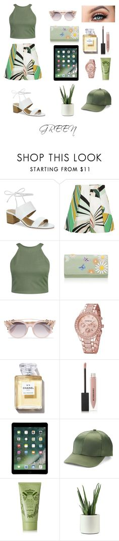 """Green"" by cathysiregar ❤ liked on Polyvore featuring Tahari, Emilio Pucci, Boohoo, Mantaray, Jimmy Choo, Burberry, Mudd and Sisley"