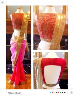 love the blouse idea Kashmiri Blouse w/ Crepe & Net Saree Blouse Patterns, Sari Blouse Designs, Indian Attire, Indian Ethnic Wear, Ethnic Style, Indian Blouse, Indian Sarees, Beautiful Blouses, Beautiful Saree