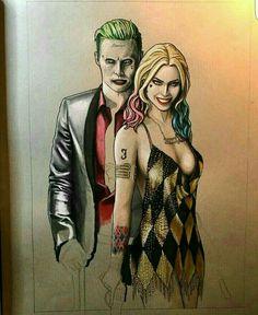 joker and harley Harley Quinn Cosplay, Joker And Harley Quinn, Yorkie, Joker Drawings, Margot Robbie Harley Quinn, Daddys Lil Monster, Warner Bros Studios, Batman Universe, Maquillage Halloween
