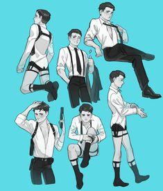 Kind looks like AoT Detroit Being Human, Detroit Become Human Connor, Fan Art, Art Gay, Steven Universe, Character Art, Character Design, Detroit Art, Becoming Human