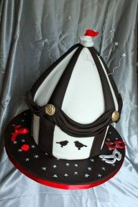 The Night Circus Cake, inspired by Erin Morgenstern's novel.