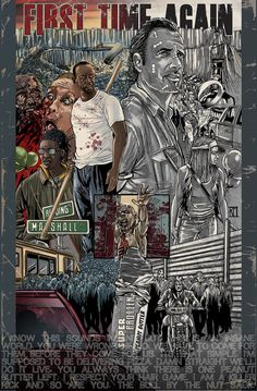 The Walking Dead may already be a comic series, but Kirk Manley has managed to make it EVEN better with his fan art. Walking Dead Fan Art, Walking Dead Comics, Walking Dead Tv Show, Walking Dead Funny, Fear The Walking Dead, Comic Book Covers, Comic Books, The Walking Dead Merchandise, Art Is Dead