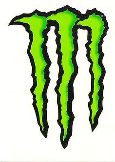 """#Monster #energy drink """"""""large"""""""" 6"""" #green claw sticker. authentic sticker / deca, View more on the LINK: http://www.zeppy.io/product/gb/2/281987655614/"""