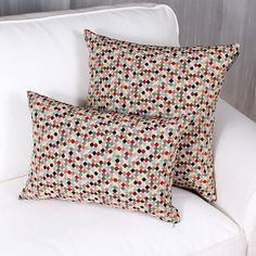 TOLEDO cushion is made of Spanish brocade. Colorful weave on an off white ground. Price is for one cushion. Bed Pillows, Pillow Cases, Color, Throw Pillows, Pillows, Colour, Colors