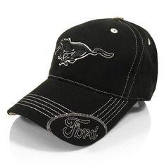 Amazon.com  Ford Mustang Black Running Pony Baseball Hat  Automotive 9beba78de67f