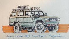 Old Land Cruiser, nice sketch