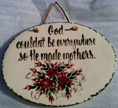 East Texas Pottery Mothers Day Wall Plaque